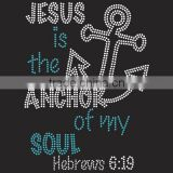Jesus is the anchor of my soul iron on Rhinestone Transfer motif