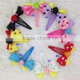 1inch Mini Polka Dot Ribbon Hair Bows With Black Bobby Pin for Girls Hair Accessoires Bow with Clip for Kids IN STOCK