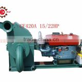 CF420A new design small wood hammer mill straw wood crusher tree branches wood crusher with CE