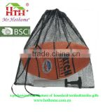 wholesale carrying basketball drawstring mesh bag, customized football basketball backpacks
