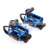 Bicycle Pedals Mountain Bike BMX Road Cycling Pedal Binding With 2 Belt Toe Straps Foot Clip Bicycle Parts Accessories