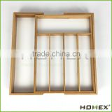 Bamboo Kitchenwares Cutlery Tray Homex BSCI/Factory