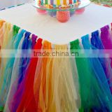 Wedding Registration Desk Decoration Organza Curly Willow Table Skirt
