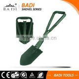 outdoor survival gear multi-functional foldable camping military shovel with pickaxe/ saw/ opener