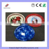Best selling Christmas plastic plates Christmas party plates
