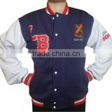 China supplier boys high school 100% cotton fleece high quality OEM baseball jacket wholesale