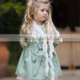 Fashionable Girls Scarf With Ivory Lace Children Lace Scarf Fashion Girls Wear Z-SF80727-1