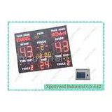 Single Sided Led Electronic Basketball Scoreboard With 24 Second Shot Clock 3m x 2m