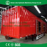Factory Sale Low Price Automatic Air Brakes Painting Semi Box Trailer For Bulk Cargo Transportaion