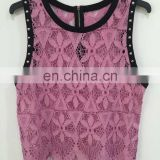 Spell color rivet full of bud silk women's vest