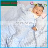 Elinfant Personalized Lovey Minky Dot Infant Baby Blanket Fleece Blanket Thick Winter Soft Warm Polyester Baby Blanket