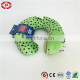 Black dotted green rest snake neck support pillow