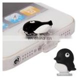 Mini Penguin Style Dustproof Plug Cap Sticker for iPhone
