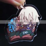 Transparent engraved acrylic badge with cartoon printed