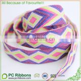 2.5cm Eco-friendly colorful plain woven rhombus jacquard ribbon
