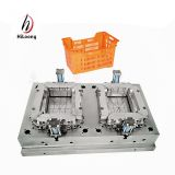 multi cavities plastic crate injection moulding plastic injection molds