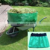 Wheelbarrow Bag Made of Clear Green Polyethylene Tarpaulin Sheeting