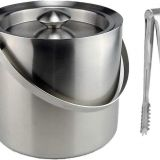 Stainless Steel Double-Wall Insulated Ice Bucket With Tong
