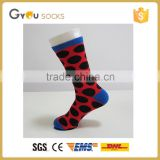 Red Men cotton Sports socks with Black pot Wholesale 2016