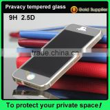 OEM/ODM Glass Shield 0.33mm Mobile Phone 180 Degree Tempered Glass Privacy screen protector for iPhone 5 iPhone 5c iPhone 5s