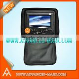 New 7'' Headrest DVD/USB/IR/FM transmitter/Game Function/Sony Mechanism loader/Mabuchi motor,with Analog TV & IR headphone