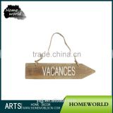 Eco-Friendly Vocation Decor Outdoor Street Vintage Wall Sign