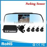Hot selling universal parking system rear view mirror 4.3 inch display with reverse sensors and back up camera