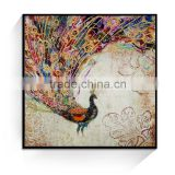 JC Animal Peacock Style Home Decoration Bedroom Canvas Art Painting For Living Room ANI-1A