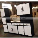 Made in China steel kitchen furniture set ready made simple designs metal kitchen cabinets sale used