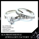 turkish wedding rings high polished silver diamond wedding ring pair wedding ring