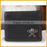 Newest Design Men's Black Genuine Leather Wallet, Handcrafted Leather Wallet