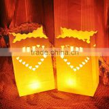Romantic Heart Tealight Holder Luminaria Paper Lantern Candle Bag Flame Retarded Bag For Christmas Party Wedding
