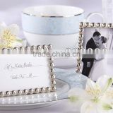 new arrival beach theme silver pearl Photo Frame Placecard Holder for wedding decoration party gifts