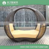 large round rattan wicker daybed outdoor lounge furniture                                                                         Quality Choice
