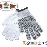 FTSAFETY Hand protection PVC Dotted Cotton Work Industrial knitted Safety Gloves