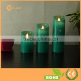 LED Dance Wax Candle with Waving Flame and Timer