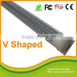 Hot selling V shape led tube 8 light 2ft/3ft/4ft/5ft/6ft/8ft integrated led tube t8 1200mm smd 2835