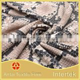Warp knitted nylon lycra swimwear printing fabric /custom fabric printing with snake skin pattern for underwear