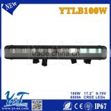 offroad led light bar for car automobile roof led light bar 17.2 inch led bar lighting 100w atv