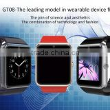 GT08 Bluetooth Smart Watch LCD 1.54 MTK6261A Smart watch Phone with high capacity and anti-lost fuction,sim card