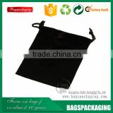 wholesale black natural drawstring jewelry felt pouch