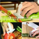 M079 wholesale protect hands cutting vegetables Safe Slice Guard plastic finger guard