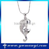 New silver crystal pendant nacklace dolphin animal necklace jewelry                                                                                                         Supplier's Choice