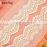 8.5cm width Summer white wave net polyester lace trimming for pillow WLC-301                                                                                                         Supplier's Choice