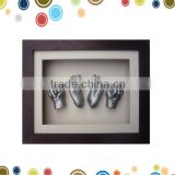 Creative 3D baby handprint frame clay in high quality shadow box                                                                         Quality Choice