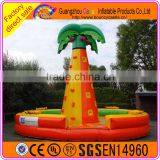 Commercial use interesting banana inflatable rock climbing wall for sale