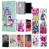 Printed PU Leather Case,Book Magnetic Leather Case For ZTE Blade G Lux Kis 3 Max With Stand