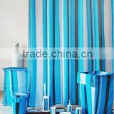 polyester bathroom shower curtain sets and coordinate accessories bath set/bath rug & shower curtain set