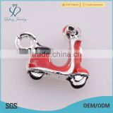 New arrival red motorcycle neckalce charms, zinc alloy china charms, custom charms wholesale