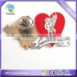 metal pin badge bird phoenix red heart love shaped soft enamel